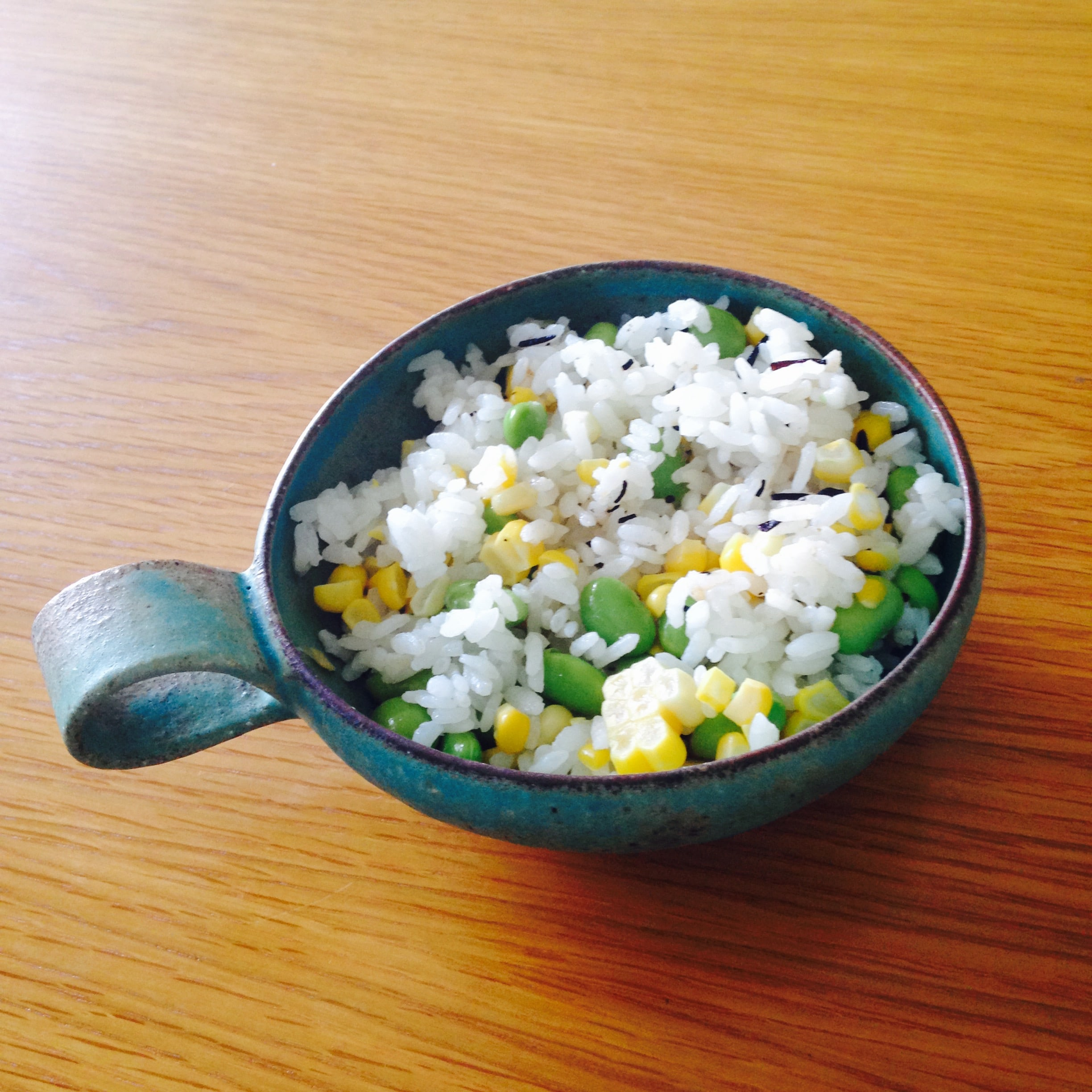 corn & green soybeans