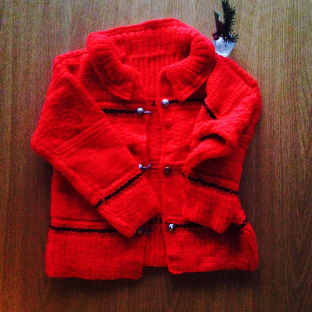 手編みのセーターに一目ぼれ